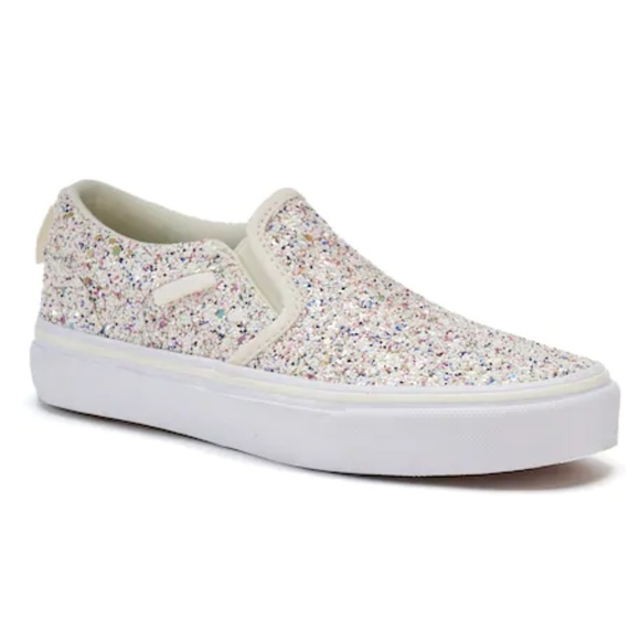 ace706f0ea Vans Asher Sparkle Skate Shoes